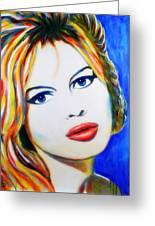Brigitte Bardot Pop Art Portrait Greeting Card