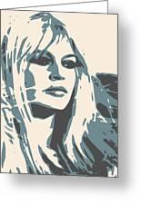 Brigitte Bardot Poster 2 Greeting Card