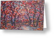 Brilliant Autumn. Greeting Card