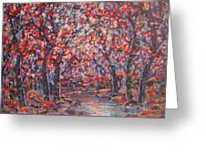 Brilliant Autumn. Greeting Card
