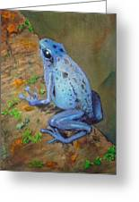 Brilliant Blue Poison Dart Frog Greeting Card