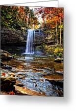 Brilliant Fall Waterfall At Cloudland Canyon Greeting Card