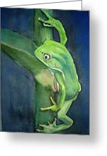 Brilliant Green Poison Dart Frog Greeting Card
