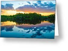 Brilliant Sunset Greeting Card