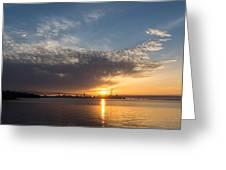Brilliant Toronto Skyline Sunrise Over Lake Ontario Greeting Card