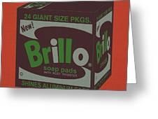 Brillo Box Colored 1 - Warhol Inspired Greeting Card