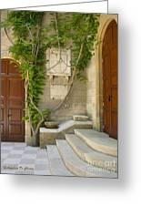 Brindisi- Library Door Greeting Card