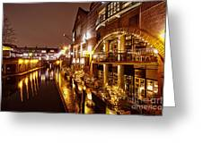 Brindleyplace At Night Greeting Card