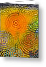 Bring Down Colored Rain Greeting Card