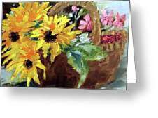 Bringing In The Sunshine  Greeting Card