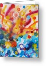 Bringing Life Spray Painting  Greeting Card