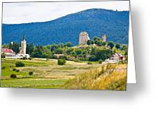 Brinje Village In Nature Of Lika Greeting Card