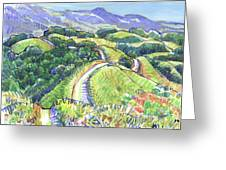 Briones Crest In May, Lafayette, Ca Greeting Card
