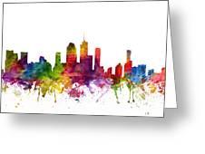 Brisbane Australia Cityscape 06 Greeting Card