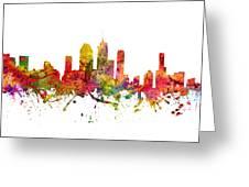 Brisbane Australia Cityscape 08 Greeting Card