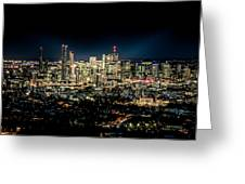 Brisbane Cityscape From Mount Cootha #7 Greeting Card
