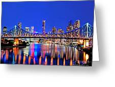 Brisbane In Late Evening Greeting Card