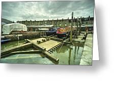Bristol Barge Dry Dock  Greeting Card