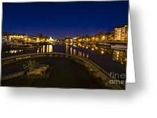 Bristol Docks By Night  Greeting Card