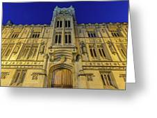 Bristol Guildhall By Night Greeting Card