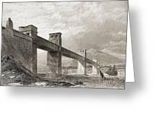 Britannia Bridge Across Menai Strait Greeting Card