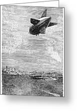 British Airship, 1919 Greeting Card
