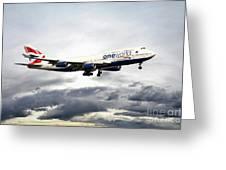 British Airways 747 G-civi Greeting Card
