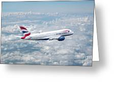 British Airways Airbus A380-841 Greeting Card