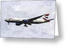British Airways Boeing 777 Art Greeting Card
