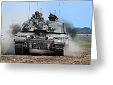 British Army Challenger 2 Main Battle Tank   Greeting Card