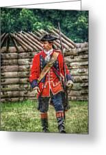 British Officer At Fort Ligonier 1758 Greeting Card
