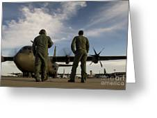 British Royal Air Force C-130j Greeting Card