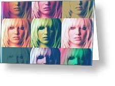 Britney Spears Pastel Warhol By Gbs Greeting Card