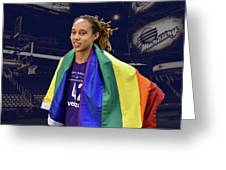 Brittney Griner Lgbt Pride 4 Greeting Card