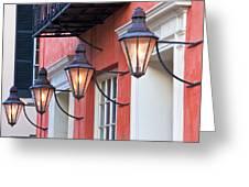 Broad Street Lantern - Charleston Sc Greeting Card by Drew Castelhano