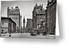 Broad Street Philadelphia 1905 Greeting Card by Bill Cannon