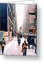 Broadway And 42nd Street 1985 Greeting Card