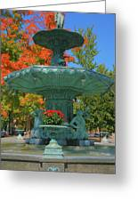 Broadway Fountain II Greeting Card by Steven Ainsworth