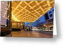 Broadway Theater Marquee Lights In Downtown Greeting Card