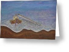 Brocken Mast Greeting Card