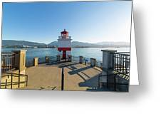 Brockton Point Lighthouse At Stanley Park Greeting Card