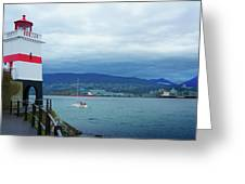 Brockton Point Lighthouse In Stanley Park Greeting Card