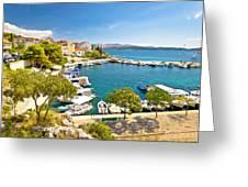 Brodarica Village On Adriatic Sea Greeting Card