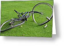 Broken Bike Greeting Card