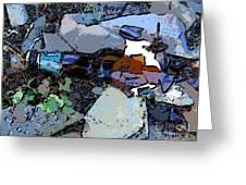 Broken Bottle Greeting Card