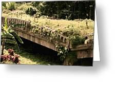 Broken Bridges Greeting Card