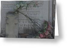 Broken Flowers Greeting Card