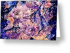 Broken Glass And A Snowstorm Greeting Card