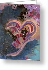 Broken Hearted Greeting Card by Helene Henderson