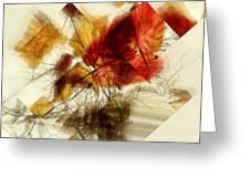 Broken Leaves Greeting Card